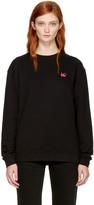 McQ by Alexander McQueen Black Swallow Badge Sweatshirt