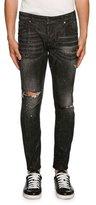 DSQUARED2 Skater Sparkle-Wash Skinny Jeans, Black
