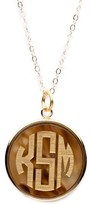 The Well Appointed House Round Monogram Pendant on Apex Chain
