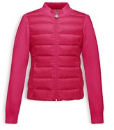 Moncler Girls' Knit & Down Zip Up Cardigan Jacket - Sizes 8-14
