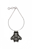 Forest of Chintz Black High Fly Necklace