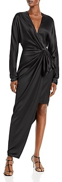 Cushnie Silk Draped Asymmetric Dress