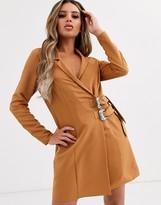 Asos Design DESIGN mini tux dress with buckles