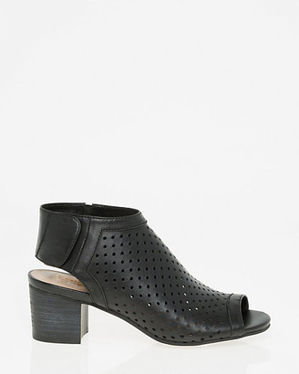 Le Château Perforated Leather Slingback Shootie