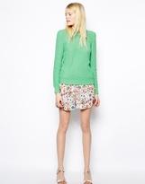 Pop Floral Silk Shorts