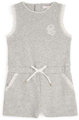 Chloé Kids Lace-Trim Playsuit