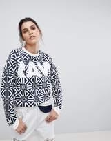 G Star G-Star All Over Tile Print Sweatshirt