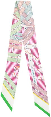 Hermes Mors a Jouets Chemise twilly scarf