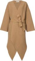 J.W.Anderson cashmere asymmetric coat - women - Cashmere/Wool - S