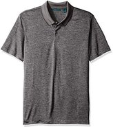 Perry Ellis Men's Two Button Texture Stripe Polo