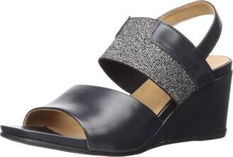 Driver Club Usa Women's Leather Made in Brazil Elastic Wedge Sandal