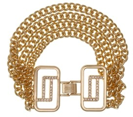 Christian Siriano New York Gold Tone Chain Clasp Bracelet