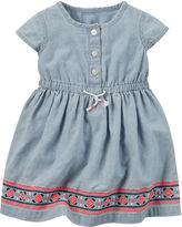 Carter's Short-Sleeve Chambray Dress - Baby Girls newborn-24m