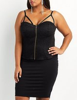 Charlotte Russe Plus Size Caged Lace Bustier Top