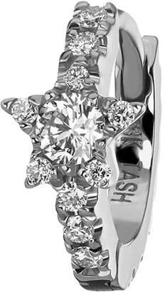 Maria Tash 8mm 18kt white gold diamond star Eternity earring