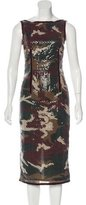 Moschino Cheap & Chic Moschino Cheap and Chic Embellished Camo Dress