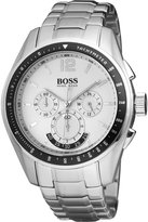 HUGO BOSS 1512405 46mm Silver Steel Bracelet & Case Mineral Men's Watch
