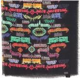 Gucci Black modal silk blend shawl