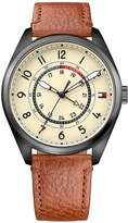 Tommy Hilfiger Dylan Cream Dial Tan Leather Strap Mens Watch