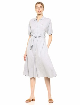 Lacoste Women's S/S Belted Classic Pique Polo Dress