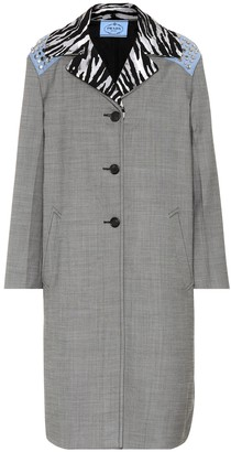 Prada Studded silk and wool coat