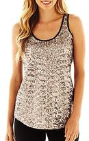 JCPenney a.n.a Sequin Tank Top