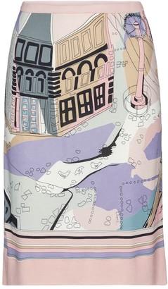 Emilio Pucci Printed high-rise jersey midi skirt