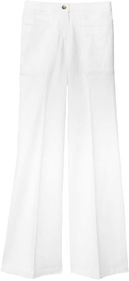 Derek Lam Charlotte High Waist Flare Jean in White