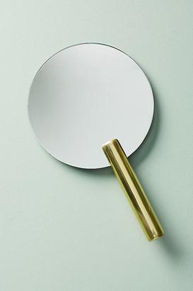 Anthropologie Allegra Hand Mirror By in Gold Size ALL