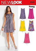 New Look 6125 Size A 10/12/14/16/18/20/22 Misses Dresses Easy Sewing Pattern, Multi-Colour