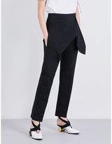 J.W.Anderson Draped straight crepe trousers