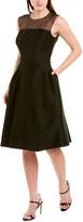 Carolina Herrera Silk-Blend A-Line Dress