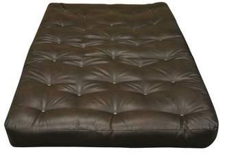 "Gold Bond 8"" Cotton Twin Split Size Futon Mattress Upholstery: Dark Brown"