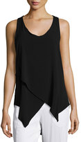 XCVI Desiree Sleeveless Asymmetric Top, Black