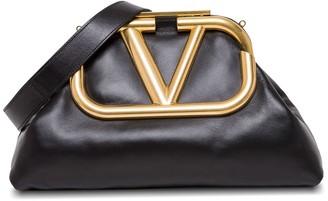 Valentino Oversize Supervee Nappa Clutch