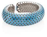 John Hardy Dot Medium Sterling Silver Flex Cuff/Turquoise