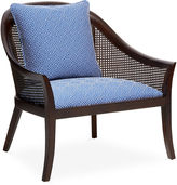 Barclay Butera Evangeline Accent Chair, Blue/White