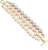 Carolee Pink Champagne Torsade Strand Bracelet