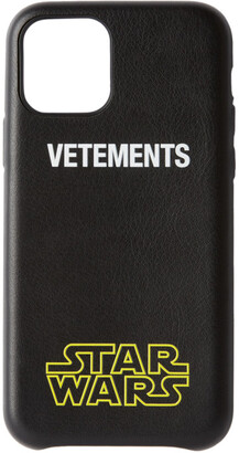 Vetements Black STAR WARS Edition Logo iPhone 11 Pro Case