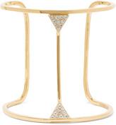 Elizabeth and James Valencia gold-tone crystal cuff