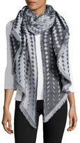 Lord & Taylor Basketweave Knit Blanket Scarf