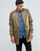 Solid !Solid Longline Padded Bomber