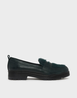 Charles & Keith Furry Penny Loafers