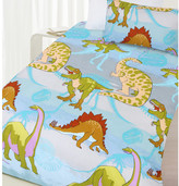 Dinosaur Glow in the Dark Quilt Cover Set