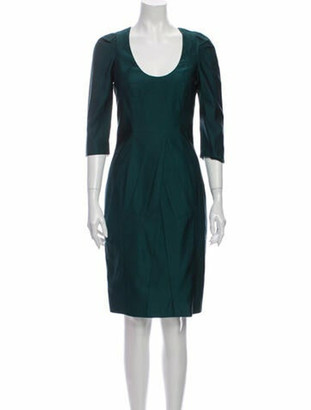 Prada Wool Knee-Length Dress Wool