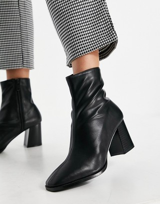 Raid Freya heeled ankle boots in black leather look