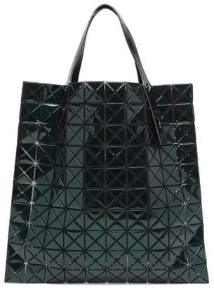 Bao Bao Issey Miyake Platinum Large Metallic Pvc Tote Bag - Womens - Dark Green