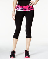 Material Girl Active Juniors' Foldover-Waist Cropped Leggings, Only at Macy's