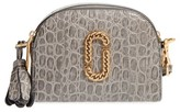 Marc Jacobs Small Shutter Leather Crossbody Bag - Grey