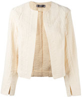 Sportmax textured cropped jacket - women - Cotton/Ramie/Spandex/Elastane - 40